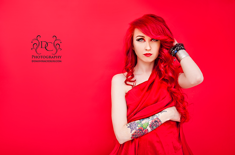 Beauty in Red-sesja portretowa